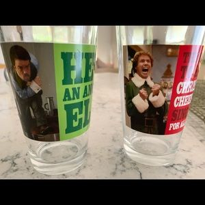 SET OF 2 ELF PING GLASS SET